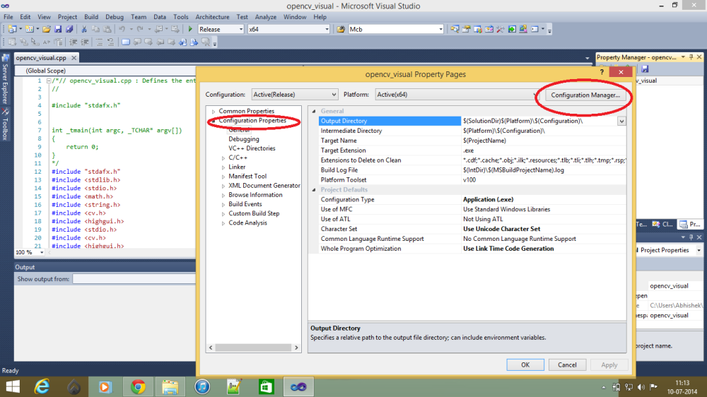 WORKING WITH OPENCV IN WINDOWS (2/6)