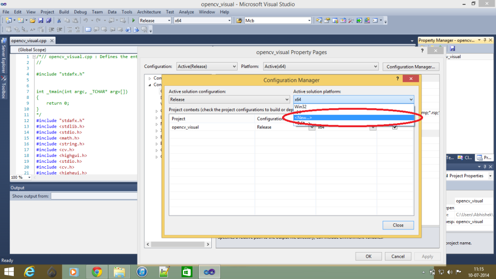 WORKING WITH OPENCV IN WINDOWS (3/6)