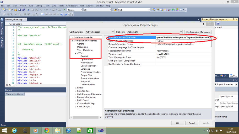 WORKING WITH OPENCV IN WINDOWS (4/6)