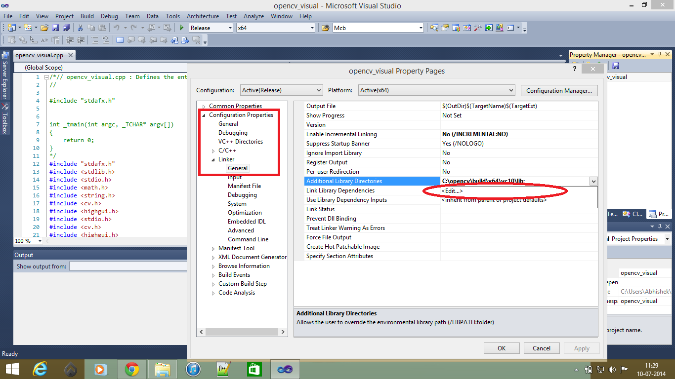 how to add x64 configuration c